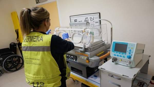 Incubadora para traslado urgente de recien nacidos
