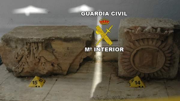 Piezas intervenidas en la operación sobre el yacimiento de Cerro Maquiz.
