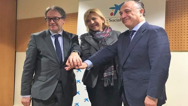 Marc Simón, Violante Tomás y Juan Ignacio Zafra