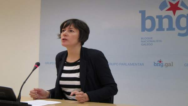 La portavoz del BNG en el Parlamento, Ana Pontón