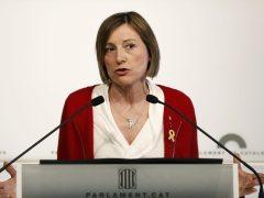Las diputadas de ERC Marta Rovira, Carme Forcadell y Dolors Bassa renuncian a sus escaños