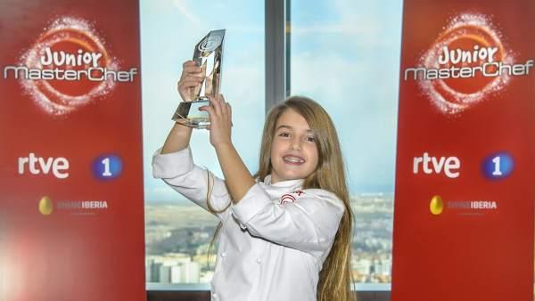Esther Requena 'Masterchef Junior 5' ganadora