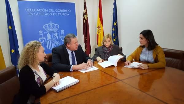 Foto/ Reunión De La Consejera De Familia E Igualdad De O Portunidades Y El Deleg