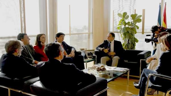 Bendodo recibe a Juan Marín Cs Ciudadanos málaga con diputados