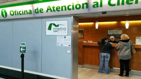Oficina de atención al cliente del Metro de Sevilla