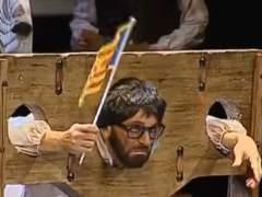 Puigdemont, guillotinado en una chirigota de Cádiz