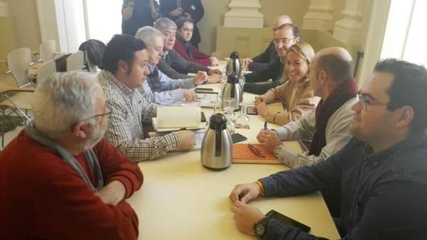 Reunión de la Plataforma Pro Hospital  de Cáceres
