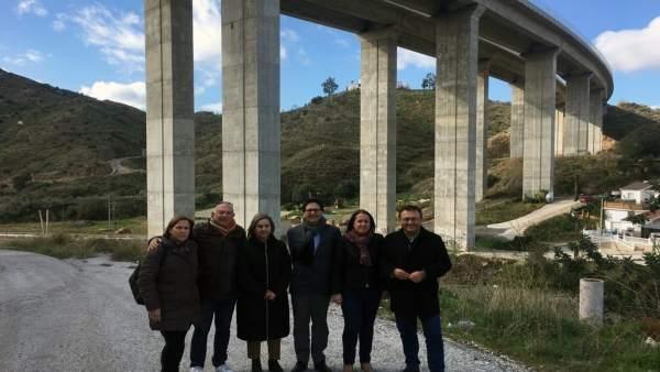 Heredia viaducto totalán tundidor ruido viaductos málaga psoe