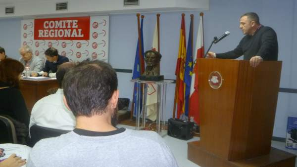 Carmona en el comité regional de UGT