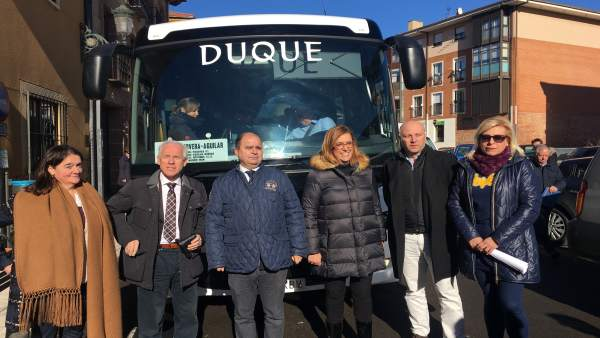 Visita institucional a las rutas de transporte
