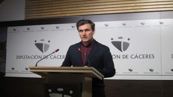 Fernando García Nicolás, portavoz del PSOE en la Diputación de Cáceres