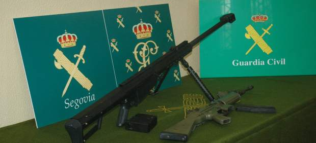 Armas incautadas en Segovia