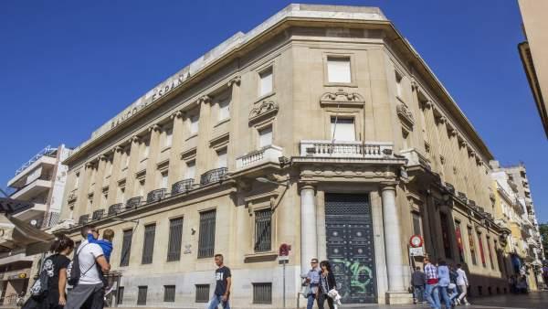 Huelva, 15/10/16 Huelva - Edificio Publico Cerrado , Banco De España Huelva .Fot