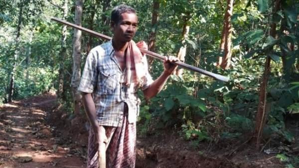 Jalandhar Nayak, de 45 años, en la India
