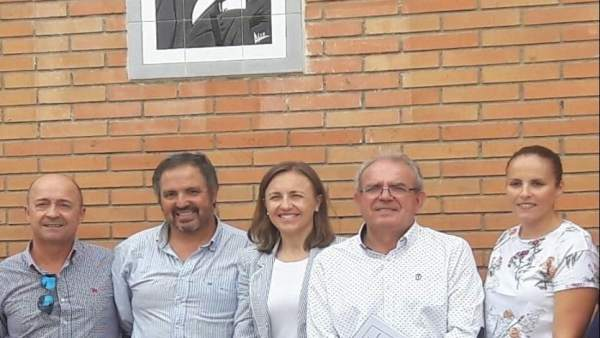 Fernández, en su visita al CEIP García Lorca