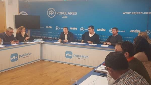 Juan Diego Requena (c) preside el Consejo de Dirección del PP de Jaén.