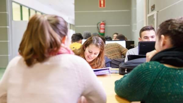 Alumnos de la Universidad de Huelva.