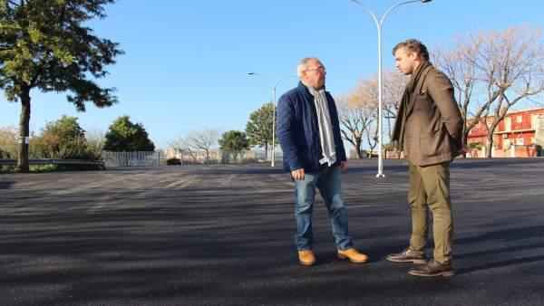 El Alcalde Visitó Las Obras De Asfaltado En La Localidad Que Avanzan Al Ritmo Pr