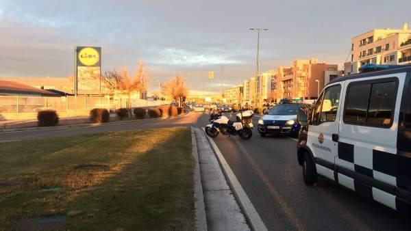 Avenida de Zamora cortada tras el accidente