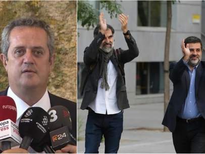 Joaquim Forn, Jordi Sánchez y Jordi Cuixart.