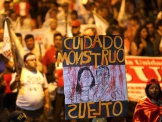 Protestas contra el indulto a Fujimori