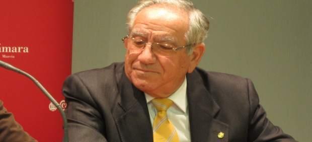 El presidente de la Cámara de Comercio de Murcia, Pedro García Balibrea