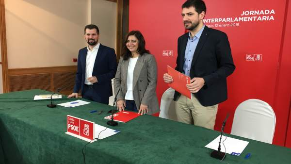 Burgos.- Luis Tudanca, Esther Peña y David Jurado