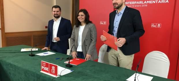 Burgos.- Luis Tudanca, Esther Peña y David Jurado