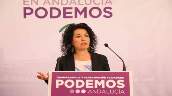 La senadora de Podemos Andalucía Maribel Mora