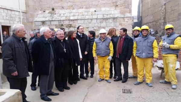 Palencia.- Visita del consejero Fernández Carriedo