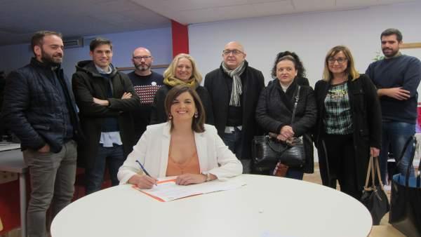 Gómez registra su candidatura a la secretaría general del PSPV de Vàlencia