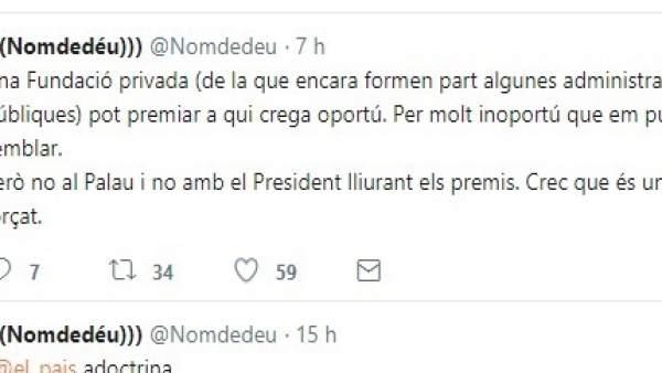 Un càrrec de Compromís critica que Puig lliure un premi a SCC i Oltra recorda que el concedeix una entitat privada