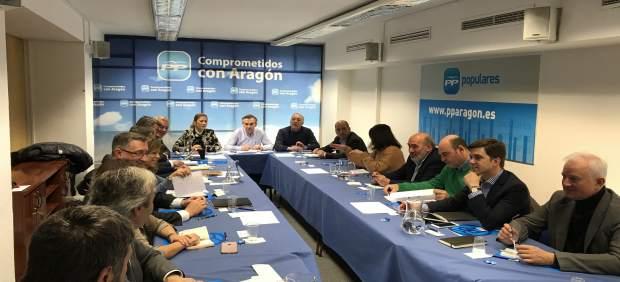 Reunión del Comité de Dirección del PP Aragón.