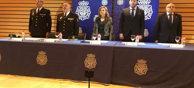 Valladolid.- Un momento del acto de la fundación de la Policía Nacional