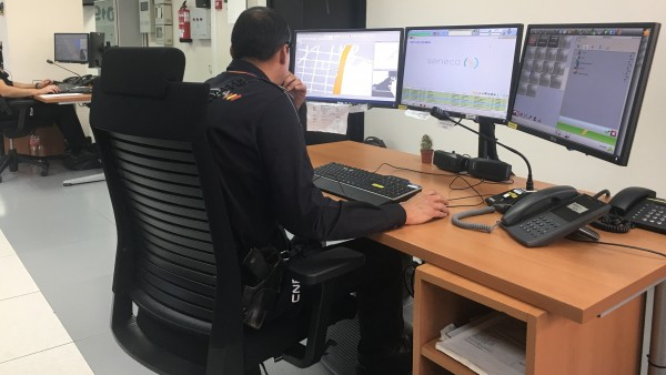 Centro del 091 en la Jefatura Superior de la Policía Nacional en Canarias