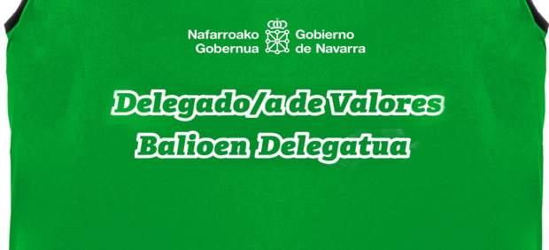 Imagen del peto distintivo del delegado de valores.