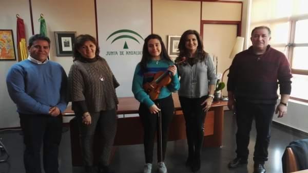 Recepción a la alumna de violín María del Mar Jurado.
