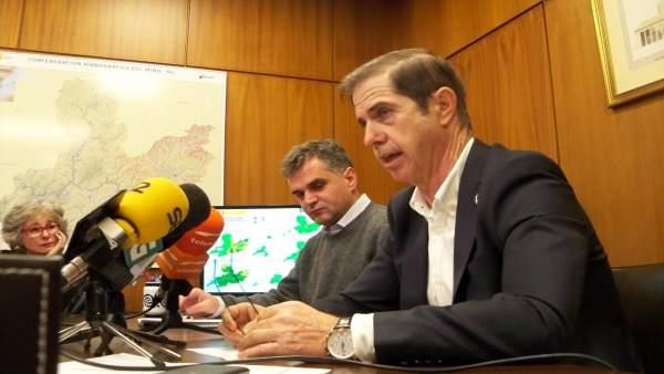 El presidente de la Confederación Hidrográfica Miño-Sil, Francisco Marín