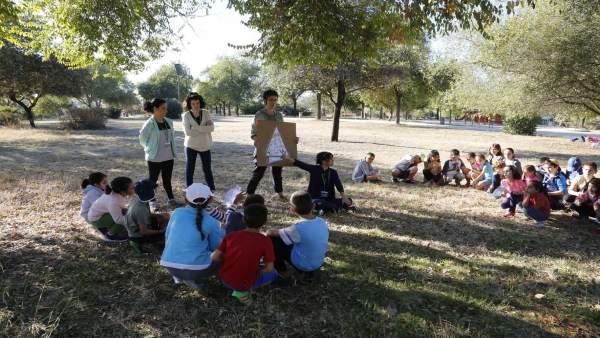 Parque Porzuna y escolares