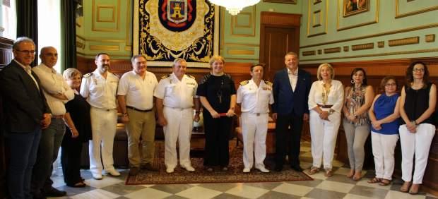 Presentación de la llegada del portaaeronaves Juan Carlos I