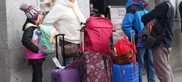 Turistas pasan la Navidad en Madrid