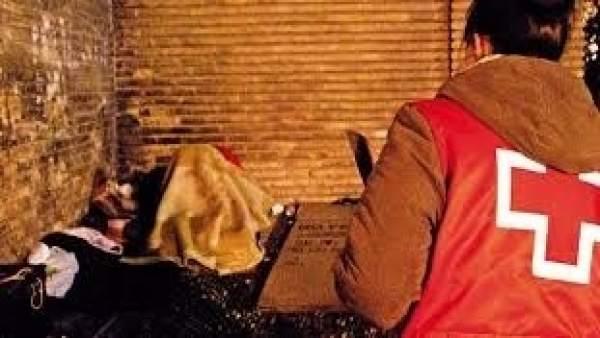 Intervención de Cruz Roja en la capital aragonesa.