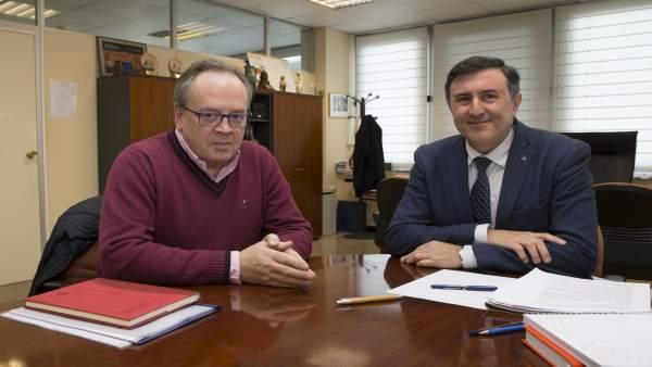 Reunión Francisco Fernández Mañanes y el alcalde de Campoo de Yuso