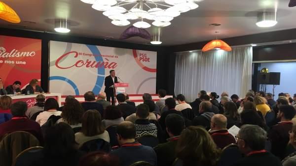 Formoso abre el congreso provincial del PSOE de A Coruña