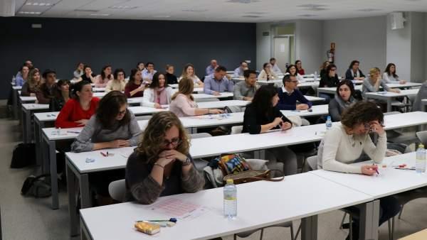 Candidatos de oposiciones de Sanidad en La Fe de València