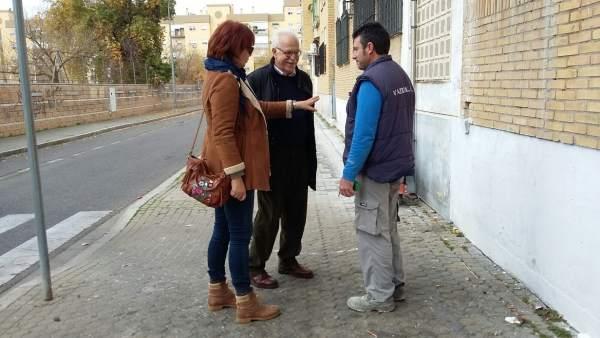 El Ayuntamiento realiza obras de accesibilidad y reordenaciónen en Distrito Sur