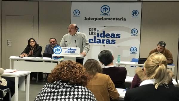 Reunión de la Interparlamentaria del PP de Granada