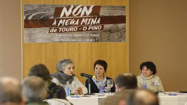 Eurodiputada Lídia Senra, jornada 'La mina de Touro-O Pino'