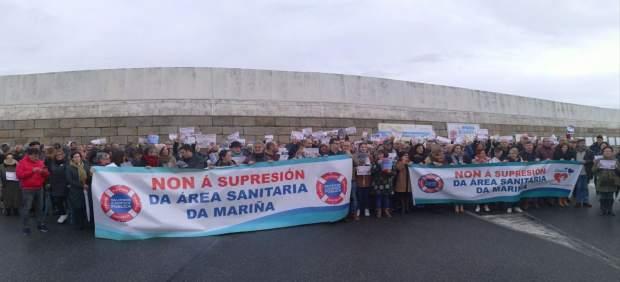 Manifestación convocada por la Plataforma Sanitaria de A Mariña