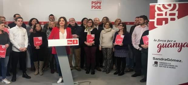 Sandra Gómez presenta su candidatura a las primarias del PSPV